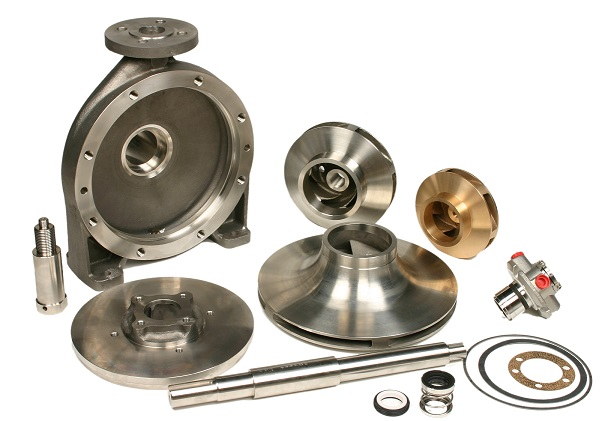 KSB Pump spare parts - Impeller, Shaft, Sleeve, Bearing Housing